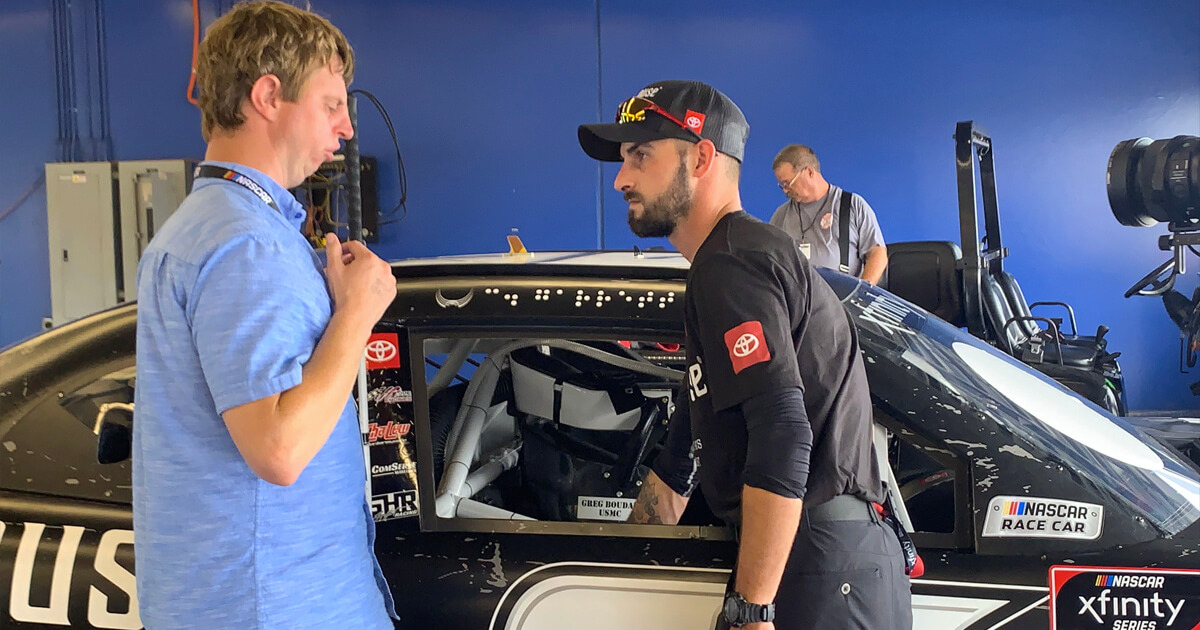 Hoby Wedler and Colin Garrett Take on Accessibility at Daytona International Speedway